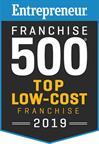 2019 Entrepreneur Franchise 500 Ranked Top Low Cost Franchise.